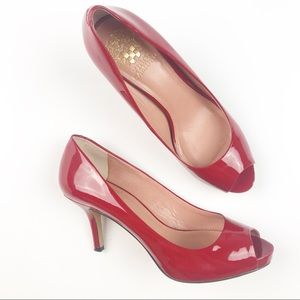 VINCE CAMUTO | Red Patent Leather Heels
